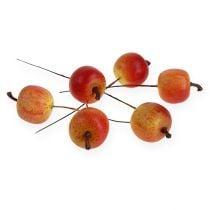 Kunstigt æble 3cm på tråd 24stk