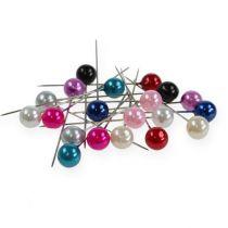 Perlehovedstifter Ø10mm 60mm forskellige farver