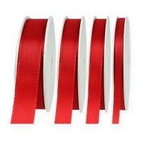 Dekorativt bånd rød 50m