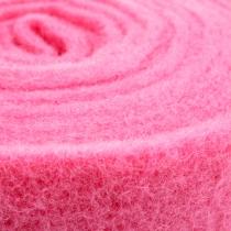 Filt bånd lyserød 15 cm 5m