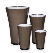 """Vase """"Fizzy"""" platin grå Ø13,5 cm til ca. Ø28,5 cm, 1 stk"""