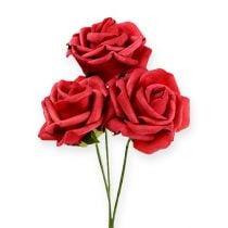 Foam-Rose Ø6cm rød 27stk