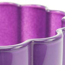 """Glasvase """"Bloom"""" violet Ø14cm H17cm"""