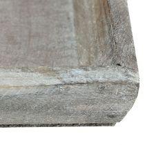 Træskål lysegrå 35 cm x 11 cm