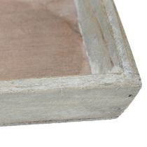 Træbakke grå 57 cm x 17 cm