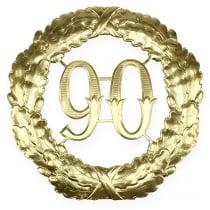 Jubilæum nummer 90 i guld Ø40cm