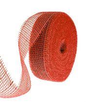 Jutebånd rød 5cm 40m
