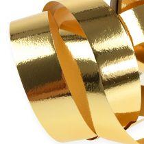 Bånd skinnende 19mm 100m guld