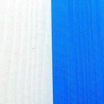 Kransebånd moiré blå-hvid