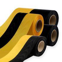 Kransebånd moiré gul-sort