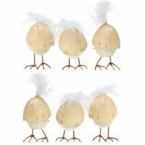 Kylling i æggeskallen hvid, fløde 6 cm 6stk