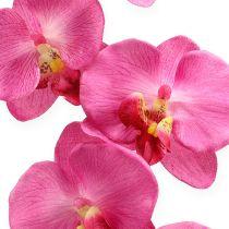 Kunstig orkidé med lyserøde 68 cm