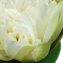 Kunstig lotusblomstcreme 13cm 4stk
