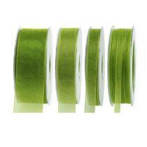 Organza bånd mosgrøn 50m