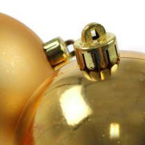 Julekugle guld 10cm 4stk