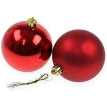 Julekugle rød 10cm 4stk