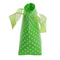 Bærepose grøn, hvid 31 cm 5stk