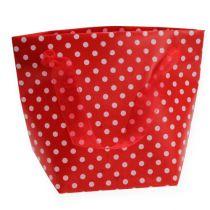 Gavepose rød, hvid 31 cm 5stk