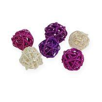 Lilac rottingkugle, bleget 72stk