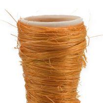 Sisal vase orange Ø3cm L30cm 12stk