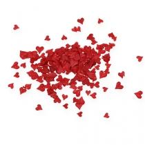 Drys dekorationshjerter rød 5-8mm 1000p