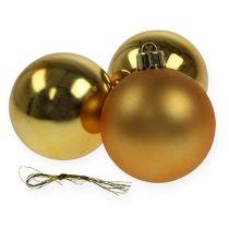 Julekugle plast guld 6cm 12stk