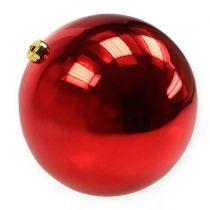 Julekugle plast stor rød Ø25cm