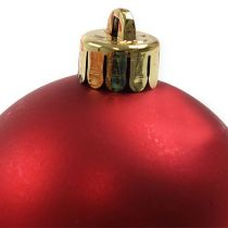 Julekugle plast rød Ø6cm 12stk