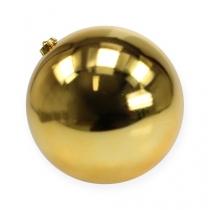 Julekugle medium guld 20cm plast