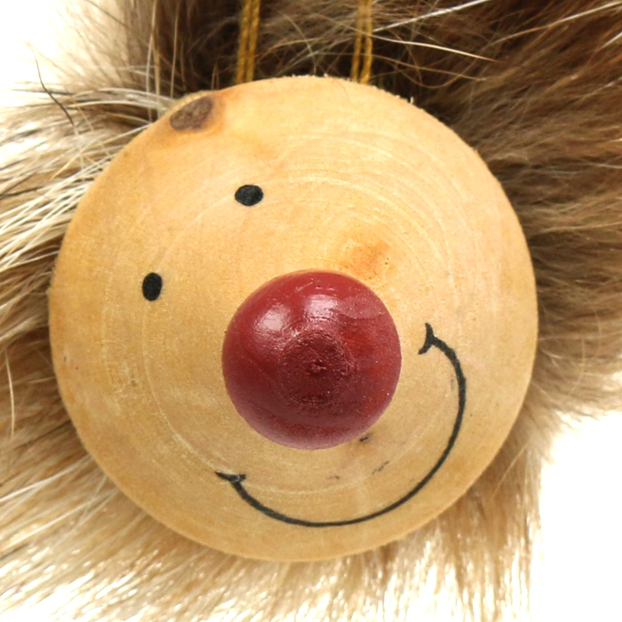 Dekorativ hedgehog med pels 6,5 cm 8stk
