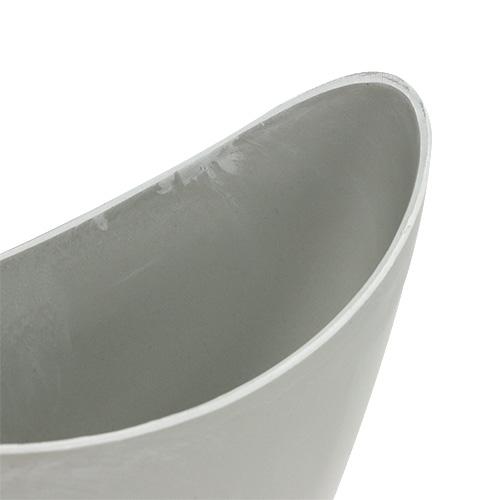 Dekorativ skål plastgrå 20 cm x 9 cm H11,5 cm, 1 stk