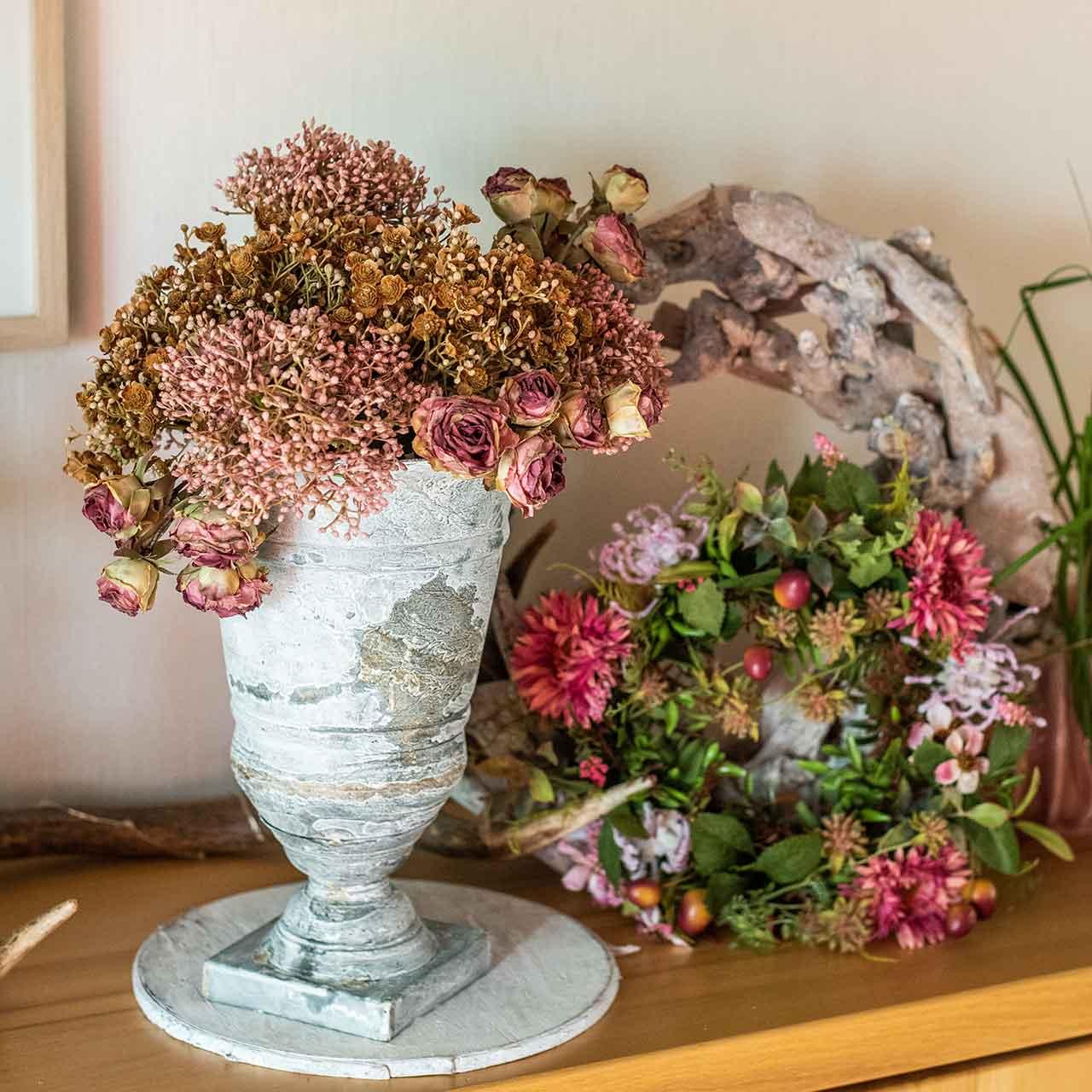 Efterårskrans krysantemum lilla Ø30cm