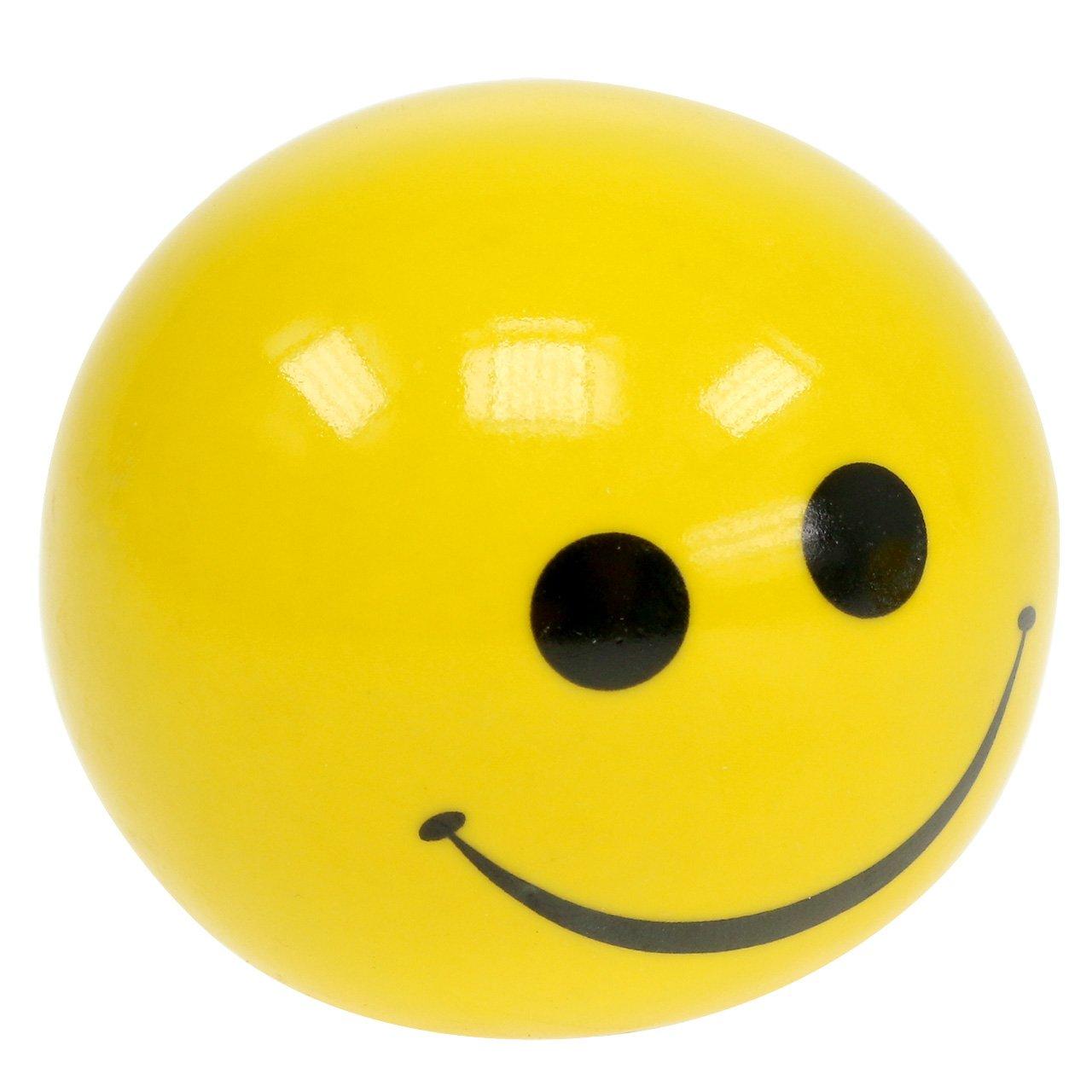 Keramisk kugle med Smeili gul Ø5cm H4,5cm 6stk