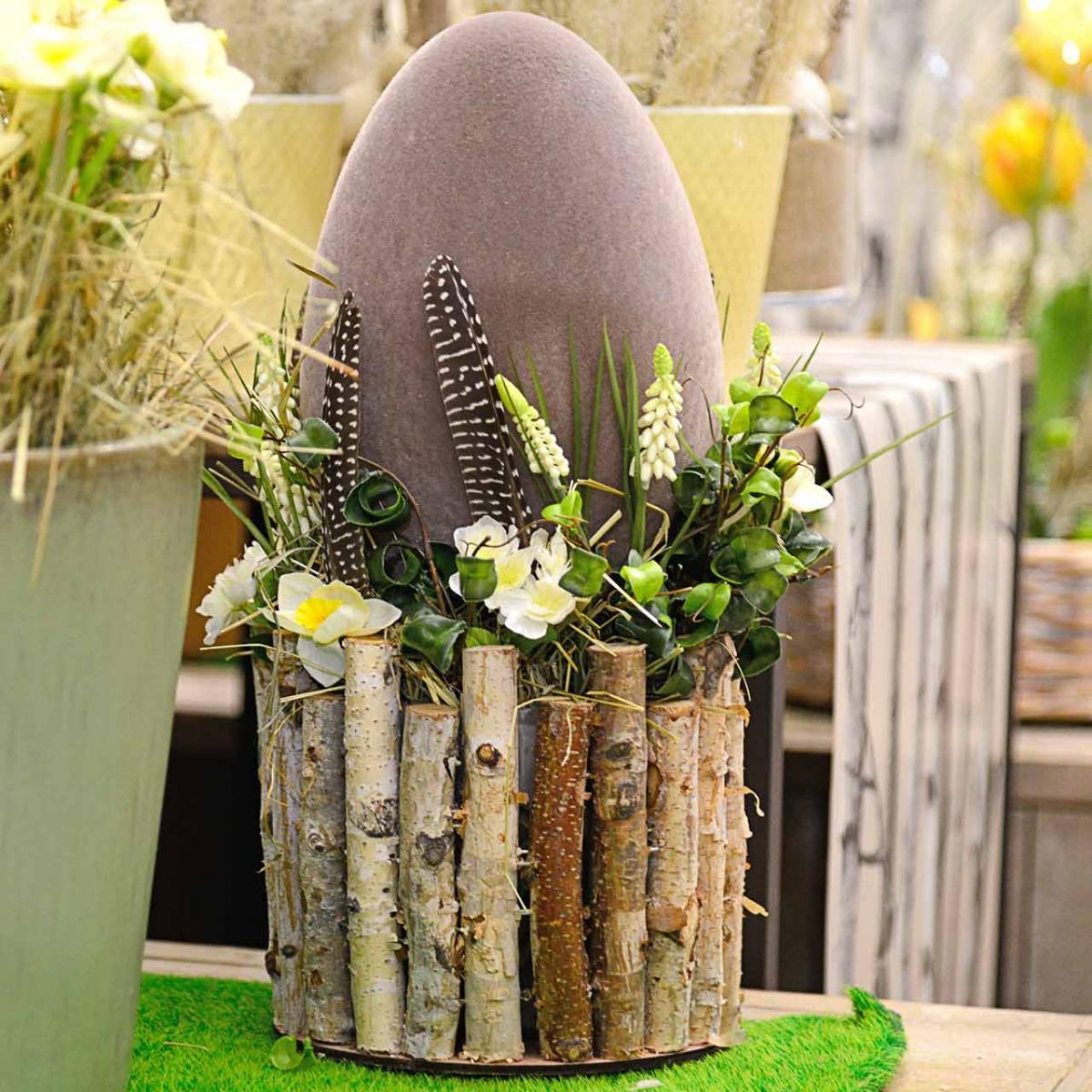 Påskeæg strømmede H25cm Farvede æg påskedekoration