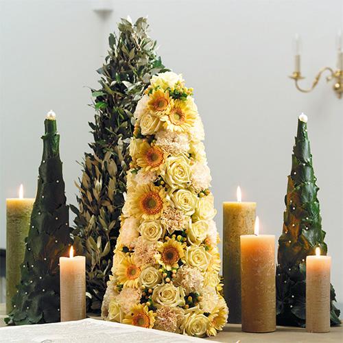 Blomsterskum i kegleform H50cm Ø15cm 2stk