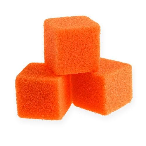 Vådskum mini-terning orange 300p