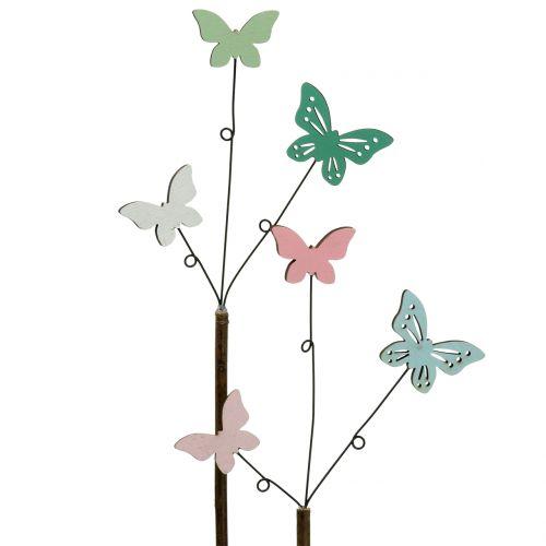 Dekorativ stik sommerfugl H43cm 6stk