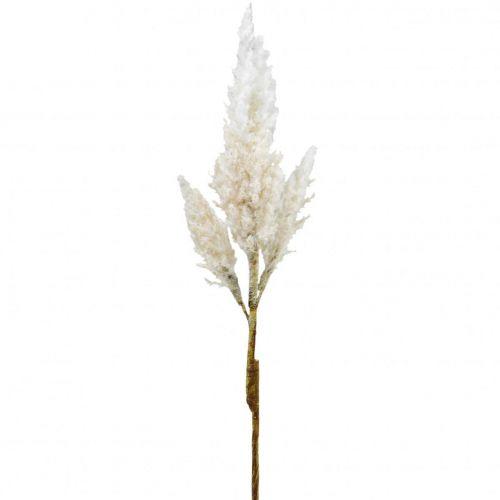 Pampas græs hvid creme kunstigt tørt græs dekoration 82cm