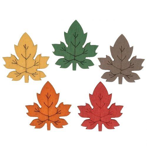 Farverigt ahornblad til spredning af 3,5 cm 72p