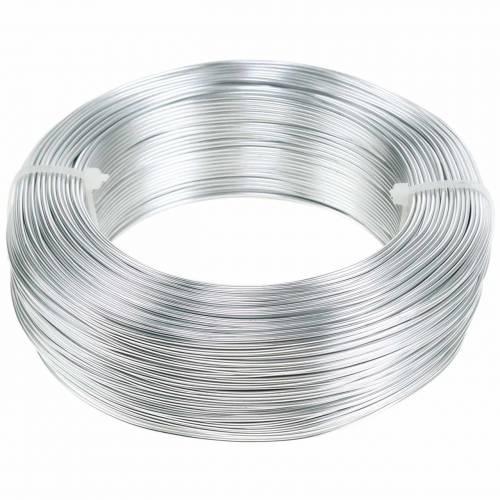 Aluminiumtråd Ø1,0 mm sølv 250g 120m