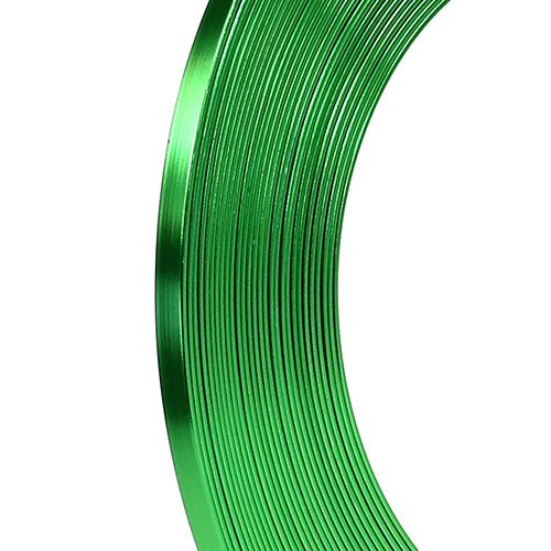 Fladtråd æblegrøn aluminium 5mm 10m