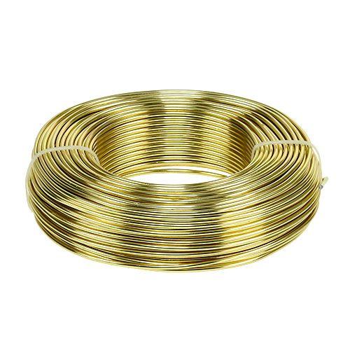 Aluminiumstråd Ø2mm 500g 60m guld