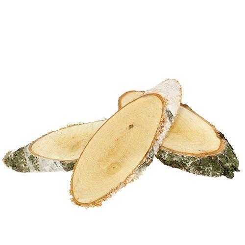 Birkeskiver ovale naturlige 10stk