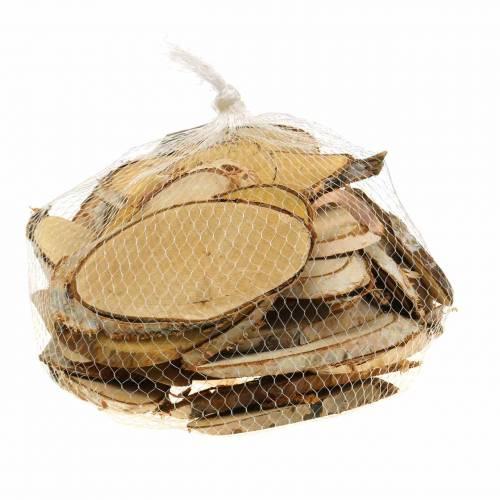 Træskiver bjørk oval naturlig 7,5 × 13 cm 1 kg