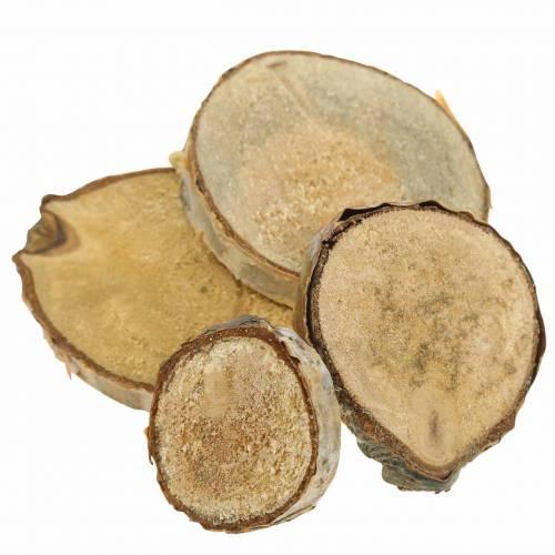 Birkeskiver runde naturlige 5cm 1kg til dekoration med bark