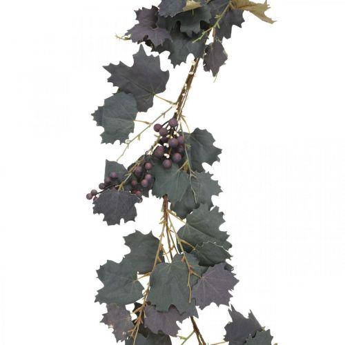 Dekorative krans vinstokke blade og druer efterårskrans 180cm