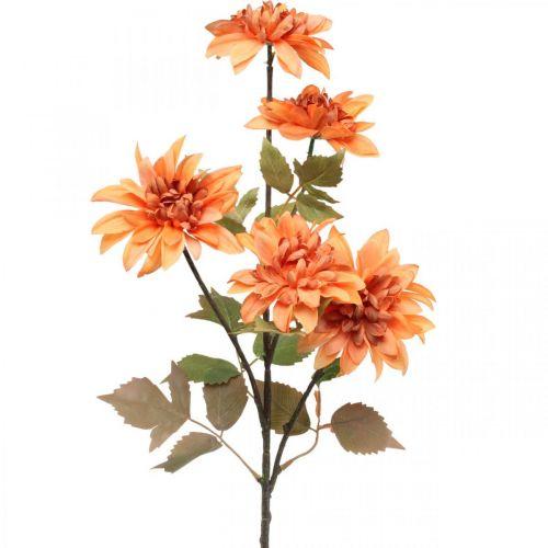 Dekorativ blomsterdahlia, efterårsdekoration, silkeblomstorange 55cm Ø9 / 11cm