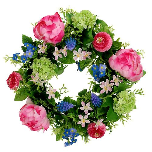 Blomsterkranspæon, Bellis Ø30cm lyserød