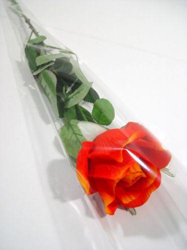 "Blomstertaske til 1 rose ""Blanko"" L65cm B14cm - 3cm 50stk"