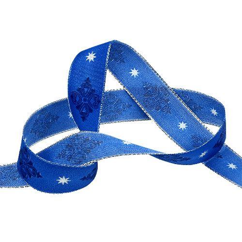 Dekorativ tape blå med mønster 25mm 20m